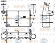 Intercooler, compresor HELLA 8ML 376 727-581