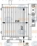 Radiator racire ulei, cutie de viteze automata HELLA 8MO 376 729-591