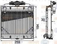 Radiator racire ulei, cutie de viteze automata HELLA 8MO 376 753-571