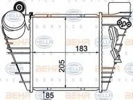 Intercooler, compresor HELLA 8ML 376 776-051
