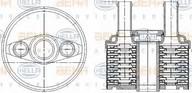 Radiator racire ulei, cutie de viteze automata HELLA 8MO 376 787-691