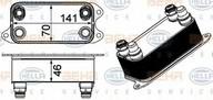 Radiator racire ulei, cutie de viteze automata HELLA 8MO 376 924-061