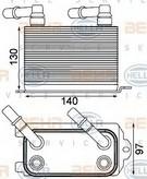 Radiator racire ulei, cutie de viteze automata HELLA 8MO 376 924-211