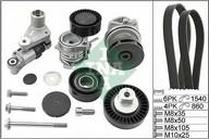 Pompa apa+set curea transmisie cu caneluri INA 529 0053 30