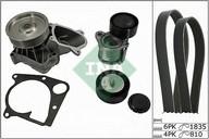 Pompa apa+set curea transmisie cu caneluri INA 529 0112 30