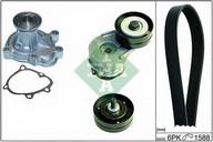 Pompa apa+set curea transmisie cu caneluri INA 529 0056 30