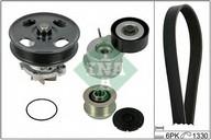 Pompa apa+set curea transmisie cu caneluri INA 529 0042 30