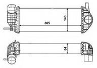 Intercooler, compresor NRF 30467