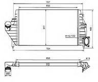 Intercooler, compresor NRF 30818