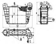 Intercooler, compresor NRF 30842