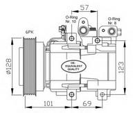 Compresor, climatizare NRF 32204