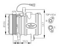 Compresor, climatizare NRF 32436
