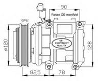 Compresor, climatizare NRF 32449