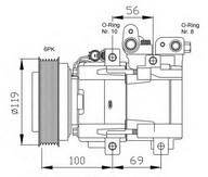 Compresor, climatizare NRF 32755G