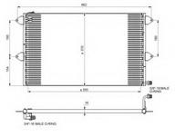 Condensator, climatizare NRF 35034