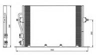 Condensator, climatizare NRF 35196