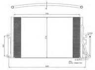 Condensator, climatizare NRF 35342