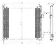 Condensator, climatizare NRF 35357