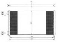 Condensator, climatizare NRF 35496