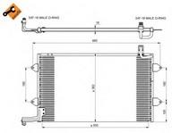 Condensator, climatizare NRF 35584