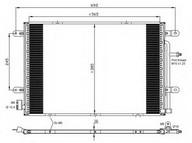 Condensator, climatizare NRF 35841