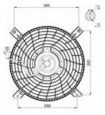 Ventilator, radiator NRF 47469