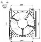 Ventilator, radiator NRF 47532