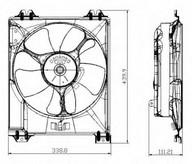 Ventilator, radiator NRF 47677
