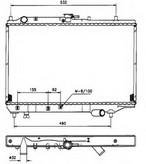 Radiator, racire motor NRF 506521