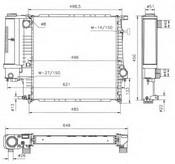 Radiator, racire motor NRF 53849