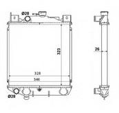 Radiator, racire motor NRF 53881