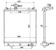 Radiator, racire motor NRF 58353