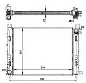 Radiator, racire motor NRF 58443