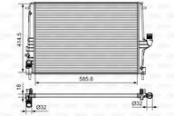 Radiator, racire motor VALEO 735635
