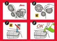 Set pompa apa+curea dintata AIRTEX WPK-121203