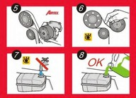 Set pompa apa+curea dintata AIRTEX WPK-1702R01
