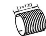 Furtun flexibil, sistem de esapament DINEX 68613