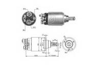 Solenoid, electromotor ERA 227087