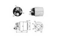Solenoid, electromotor ERA 227171