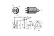 Solenoid, electromotor ERA 227255