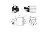 Solenoid, electromotor ERA 227459