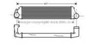 Intercooler, compresor AVA QUALITY COOLING BW4207