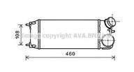 Intercooler, compresor AVA QUALITY COOLING FDA4476