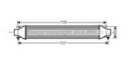 Intercooler, compresor AVA QUALITY COOLING FT4321