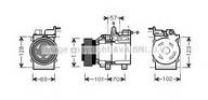 Compresor, climatizare AVA QUALITY COOLING HYK209