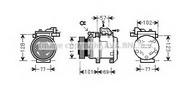 Compresor, climatizare AVA QUALITY COOLING KAK146