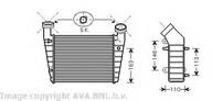 Intercooler, compresor AVA QUALITY COOLING VW4238