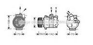 Compresor, climatizare AVA QUALITY COOLING VWAK220