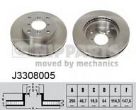 Disc frana NIPPARTS J3308005