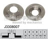 Disc frana NIPPARTS J3308007